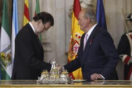 Ceremonia de abdicación del Rey juan Carlos con Rajoy