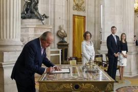Ceremonia de abdicación del Rey juan Carlos