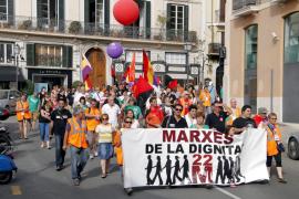 Protesta por los recortes sociales