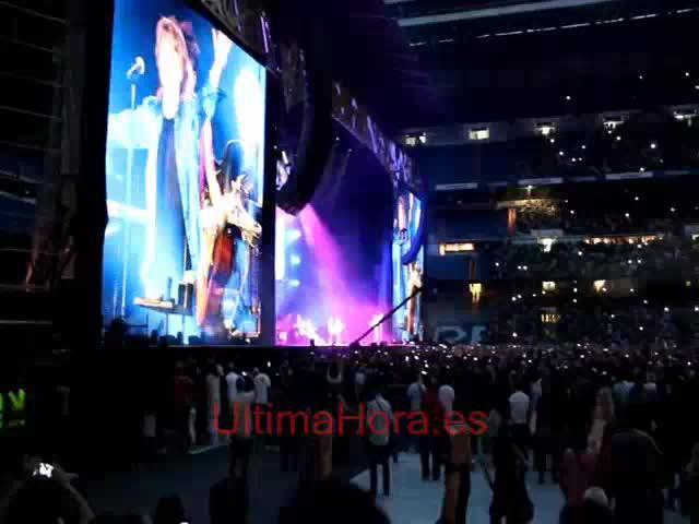 Mallorquines en el concierto de los Rolling Stones