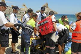 Un turista drogado la emprende a mordiscos con bañistas en Magaluf