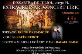 Rafael Nadal dirige un concierto benéfico en las Coves del Hams