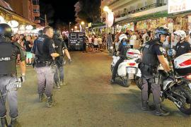 Una batalla campal entre neonazis acaba con cuatro detenidos en la Platja de Palma