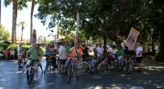 Massa Crítica reivindica el transporte sostenible en Cort y sa Gerreria