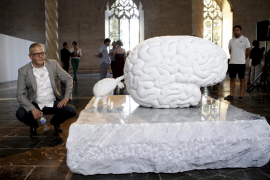 Las tortugas y cerebros de Jan Fabre conviven en sa Llonja