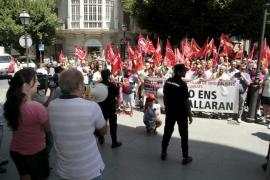 Cerca de 300 manifestantes protestan en Palma contra la «criminalización» del sindicalismo
