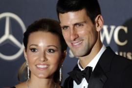 Novak Djokovic y su mujer, Jelena Djokovic