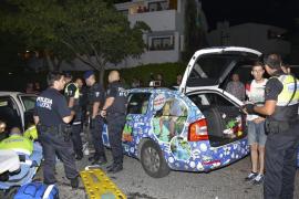 Un conductor novel ebrio arremete contra seis coches y deja trece heridos en Calvià