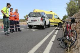 Heridos graves dos ciclistas tras ser  arrollados en la carretera de Llucmajor