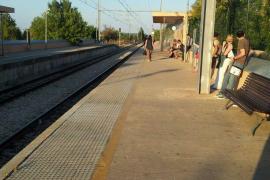 Una avería eléctrica paraliza durante unas horas el servicio de tren Inca-Palma
