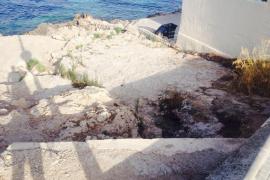 Acceso a la playa de Illetes