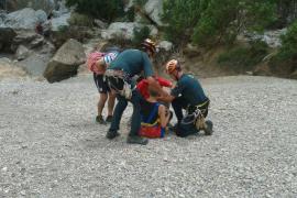 Una mujer ha tenido que ser rescatada en el Torrent de Pareis tras un golpe de calor