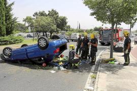 Un conductor que cuadruplicó la tasa de alcohol 'vuela' en Son Rapinya