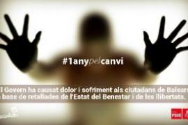 El PSIB edita un vídeo crítico contra la gestión y los recortes de Bauzá