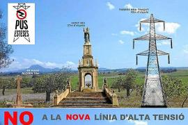 'Pus Esteses' y el Govern descartan la construcción de la línea de alta tensión