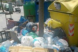 Cientos de contenedores de Palma quedan sin recoger por el absentismo en Emaya