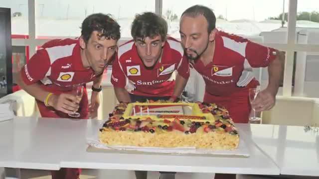 Ferrari elabora un vídeo para felicita a Alonso por su 33 cumpleaños
