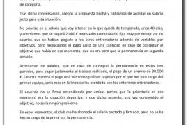Olaizola reclama 30.000 euros que le prometió Prats