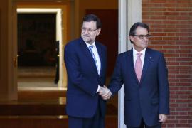 Rajoy y Mas, reunidos
