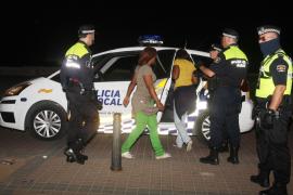 La policía continúa su ofensiva contra la prostitución callejera en la Platja de Palma