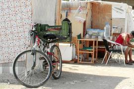 Los rumanos del asentamiento del cauce de sa Riera rechazan la ayuda de Cort