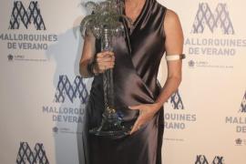 Diandra Douglas recibió el galardón de 'Mallorquín del verano'