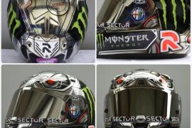 Lorenzo estrena casco en el Gran Premio de Indianápolis