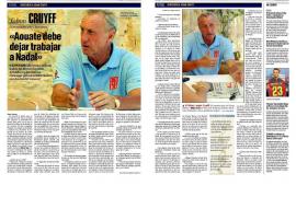 Cruyff da la vuelta al mundo
