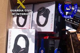 Intervienen artículos falsificados valorados en más de 200.000 euros en Calvià