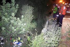 Laborioso rescate de un ciclista que cayó a un torrente en la Comuna de Bunyola