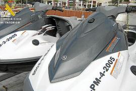 Detenido por falsificar matrículas de motos acuáticas en Cala Bona