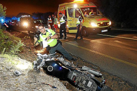 Muere un motorista de 37 años en un choque frontal con un turismo en la carretera vieja de Inca