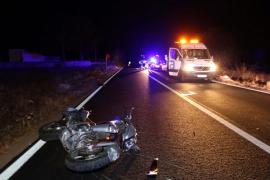Un motorista fallece tras chocar contra una pared en s'Estanyol