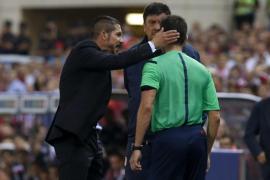 A Simeone le caen 8 partidos de sanción tras su expulsión en la Supercopa