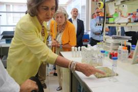La reina Sofía visita el laboratorio de Biomedicina Molecular de la UIB