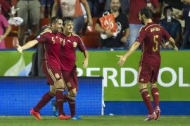 Cómoda goleada de España ante la débil Macedonia