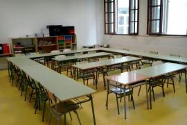 Huelga en la enseñanza, colegio Bartomeu Pou