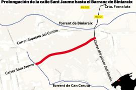Iniciada la prolongación de la calle Sant Jaume de Sóller
