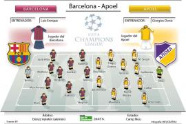 El Barça debuta ante el débil Apoel
