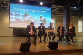 Lorenzo ejerce de embajador en la presentación del GP de Aragón