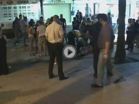 Un turista, en estado muy grave tras ser agredido por el portero de una discoteca en s'Arenal