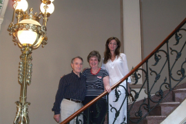 Albert e Irene Kleinglas visitan el Museo Modernista de Can Prunera, en Sóller