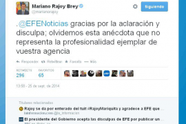 Tuit de Mariano Rajoy
