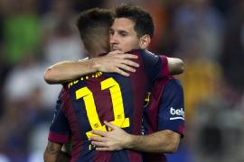 El Barça golea en una gran tarde de Messi y de un Neymar trigoleador