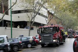 Un cortocircuito provoca un incendio en la sede de la Policía Nacional