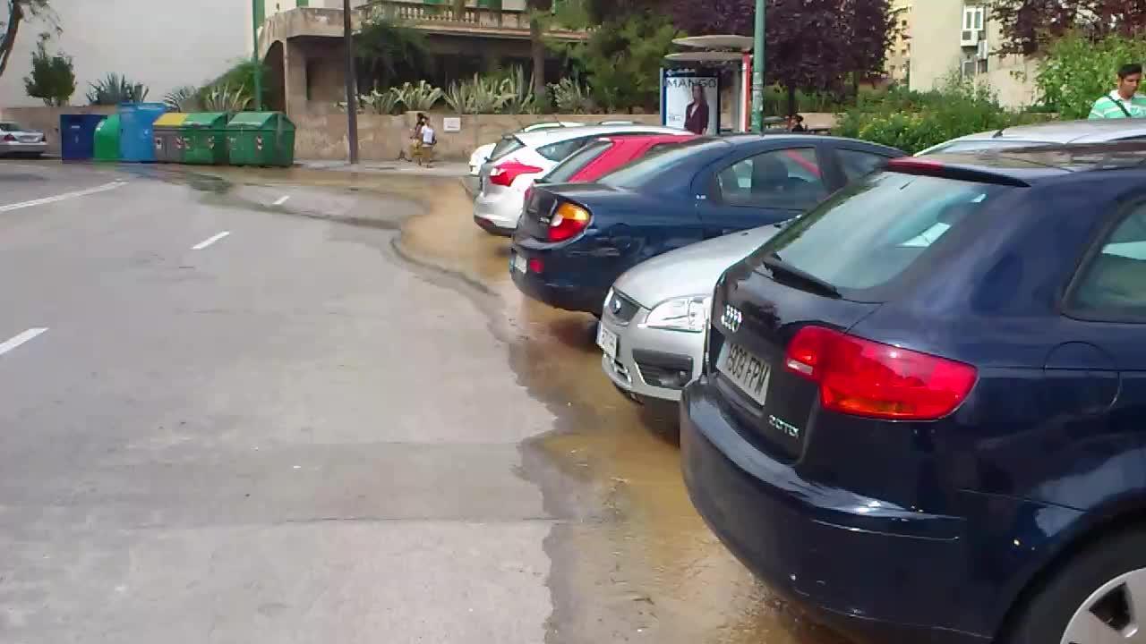 500 vecinos de Palma, sin agua por la rotura de una tubería