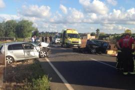 Tres heridos en un accidente de tráfico en la carretera de Muro a Can Picafort