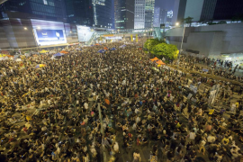 Los estudiantes retan al Gobierno de Hong Kong y salen a la calle