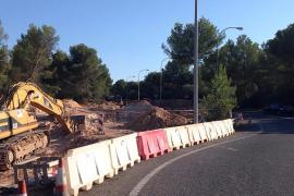 Avanzan las obras de la rotonda de Cala Blava, que agilizará el tráfico en la zona