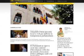 La nueva página del Parlament incluye las retribuciones de los parlamentarios